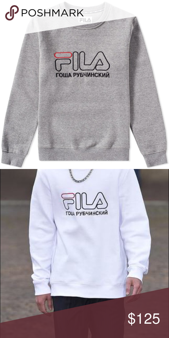 afcc88a96a13 Gosha Rubchinskiy x Fila medium grey crewneck AUTHENTIC Gosha Rubchinskiy x  Fila medium grey crewneck sweatshirt for the SS17 runway collection Worn  only ...