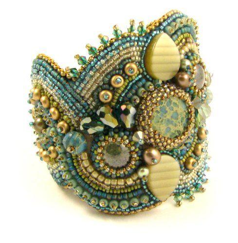 Beads East Aqua Terra Bead Embroidery Bracelet Kit by Ann Benson by Beads East, http://www.amazon.com/dp/B00DW6H6Q0/ref=cm_sw_r_pi_dp_d9.Fsb1Q867ZZ