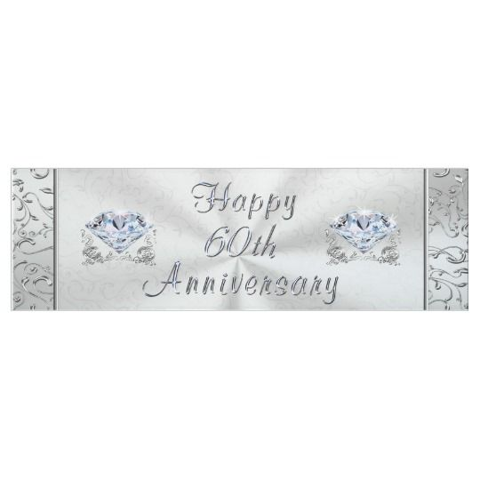 Beautiful Diamond Happy 60th Anniversary Banner Zazzle Com Happy 60th Anniversary Anniversary Banner 60th Anniversary