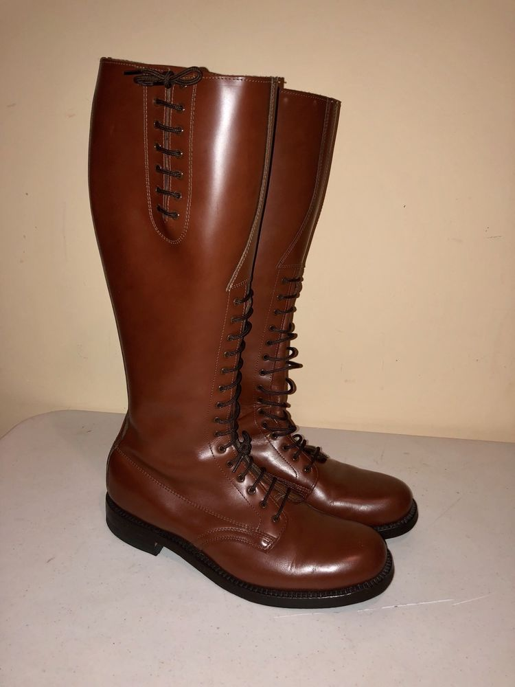 HARTT CANADA excellent Brown leather tall police uniform