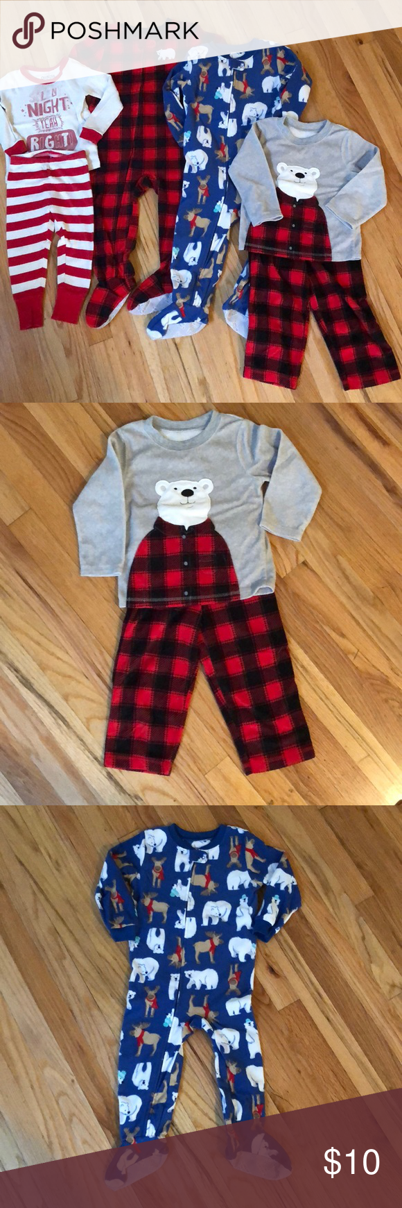 25ab09d98679 Four pairs of 2T boy winter pajamas in 2018