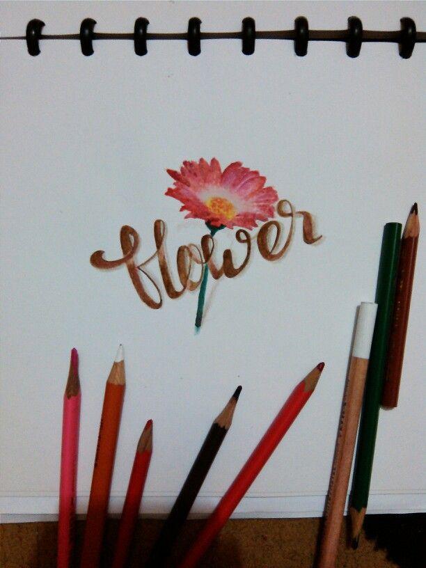 #handlettering today 1st #design #flower