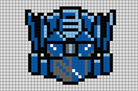 Transformers Optimus Prime Pixel Art Pixel Art Easy Pixel