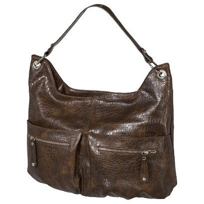 Target Bueno Smooth Hobo Handbag Brown Image Zoom