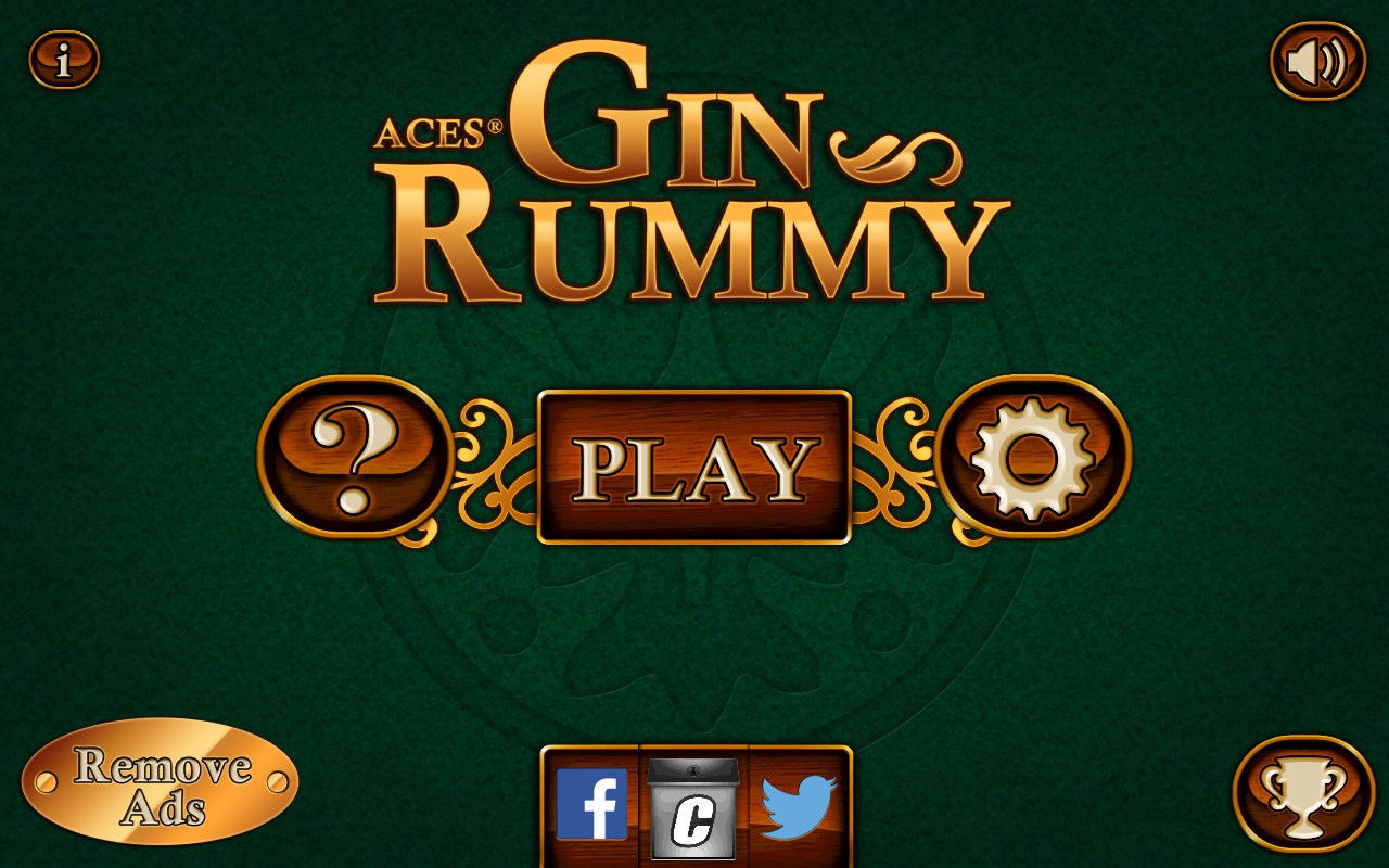 Aces® Gin Rummy screenshot Gin rummy, Rummy, Gin rummy