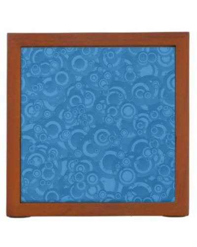 Blue circles desk organizers $30.90 *** Blue seamless circle pattern - desk organizer
