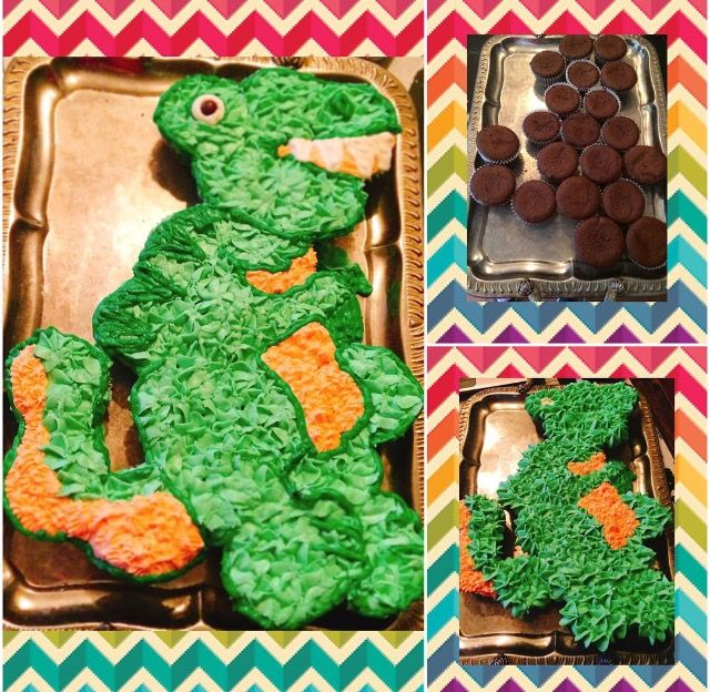 T Rex Pull Apart Cake This Was Joeys 5th Birthday Cake He Was So