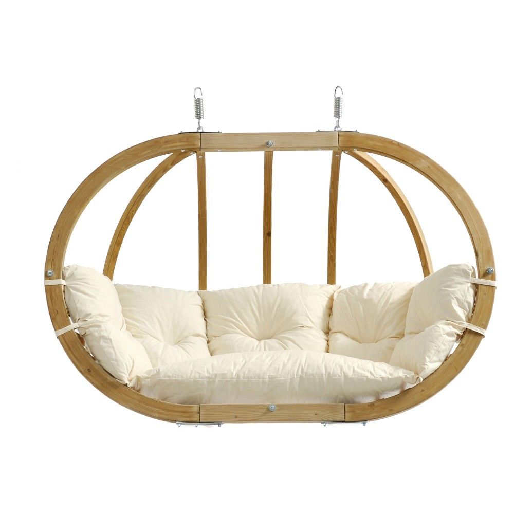 Globo double patio swing natural byer of maine products in
