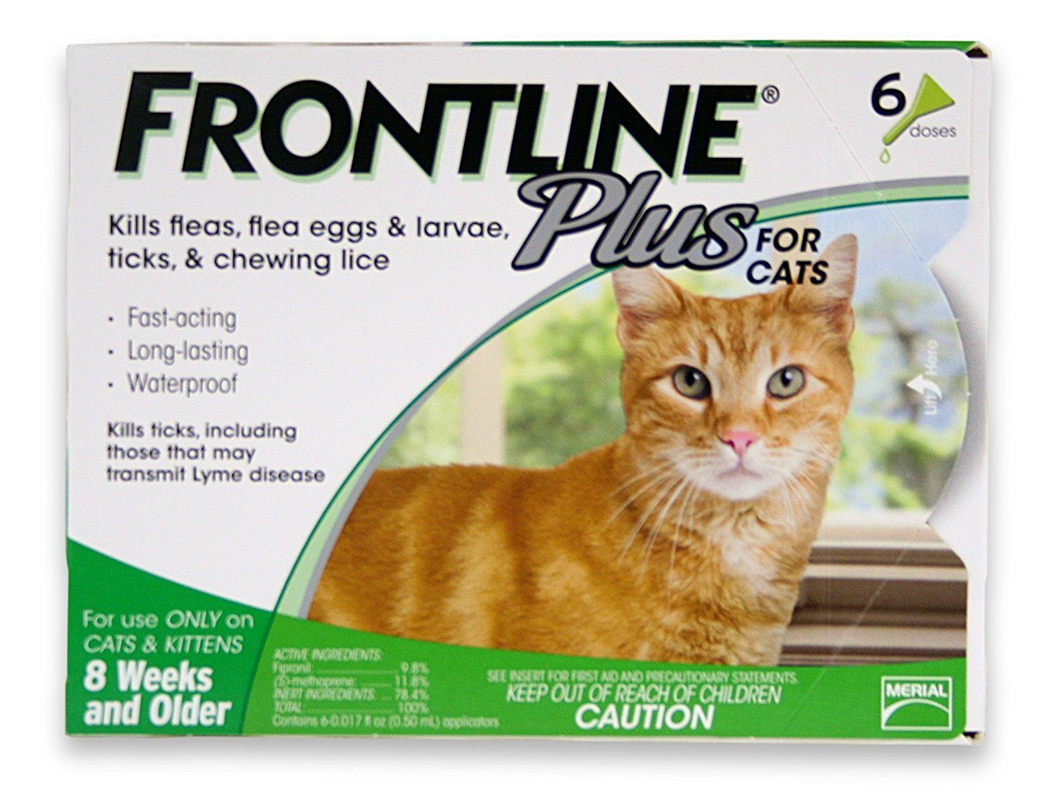 Merial Frontline Plus Flea And Tick Control For Cats And Kittens 6 Doses Read More Reviews Of T Frontline Plus For Cats Tick Treatment For Cats Cat Medicine