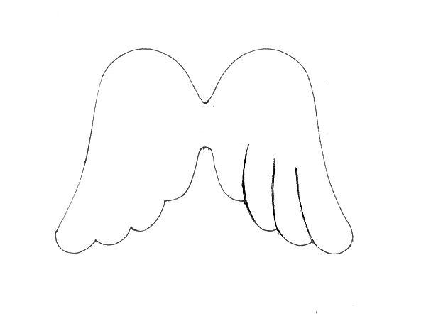 Gabarit ailes d 39 ange couture pinterest ailes de - Ailes d ange dessin ...