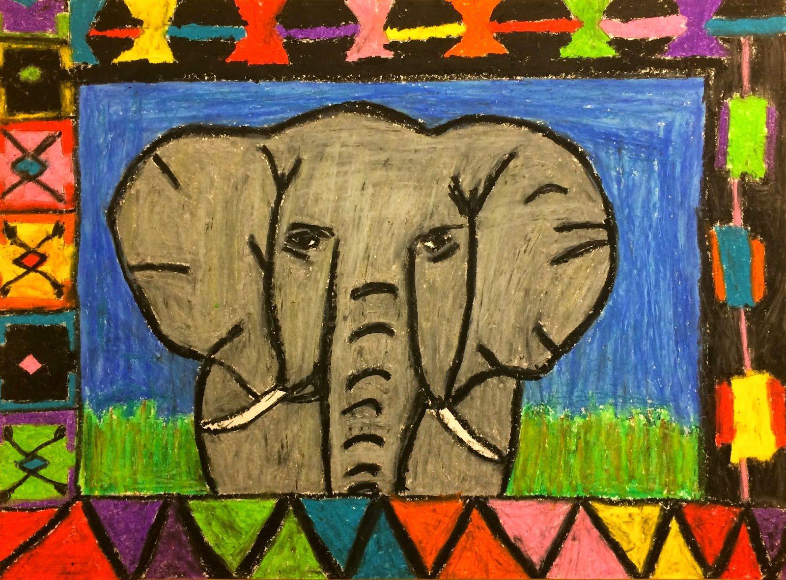 Exploring Art Elementary Art 5th Grade African Animals