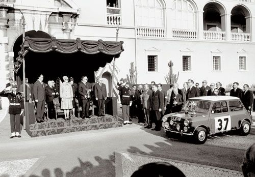 Princess Grace presenting Paddy Hopkirk and Henry Liddon their trophy for winning the '64 Monte Carlo Rally in their MINI Cooper S. My next drive, from Torino over the Alpes Maritimes!