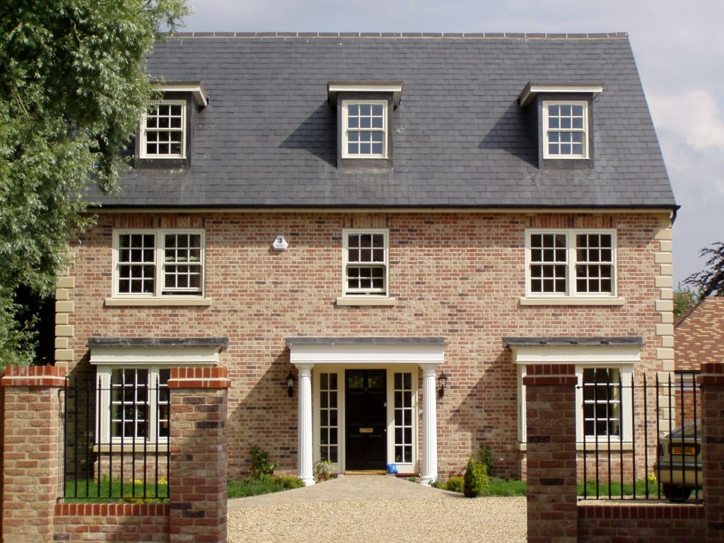 Classic self build house by potton self build houses for Brick kit homes