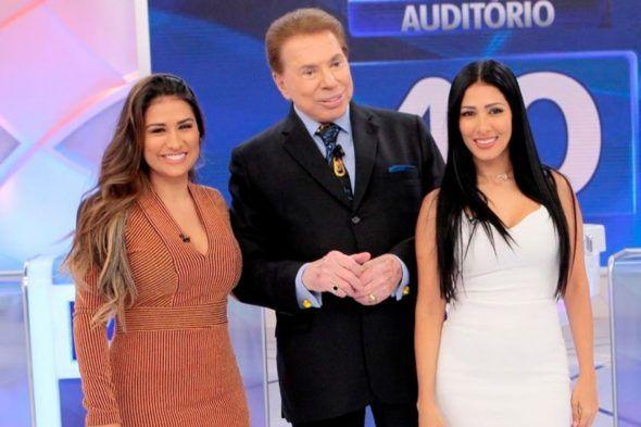 Com Simone E Simaria Programa Silvio Santos E Vice Lider Em Sp
