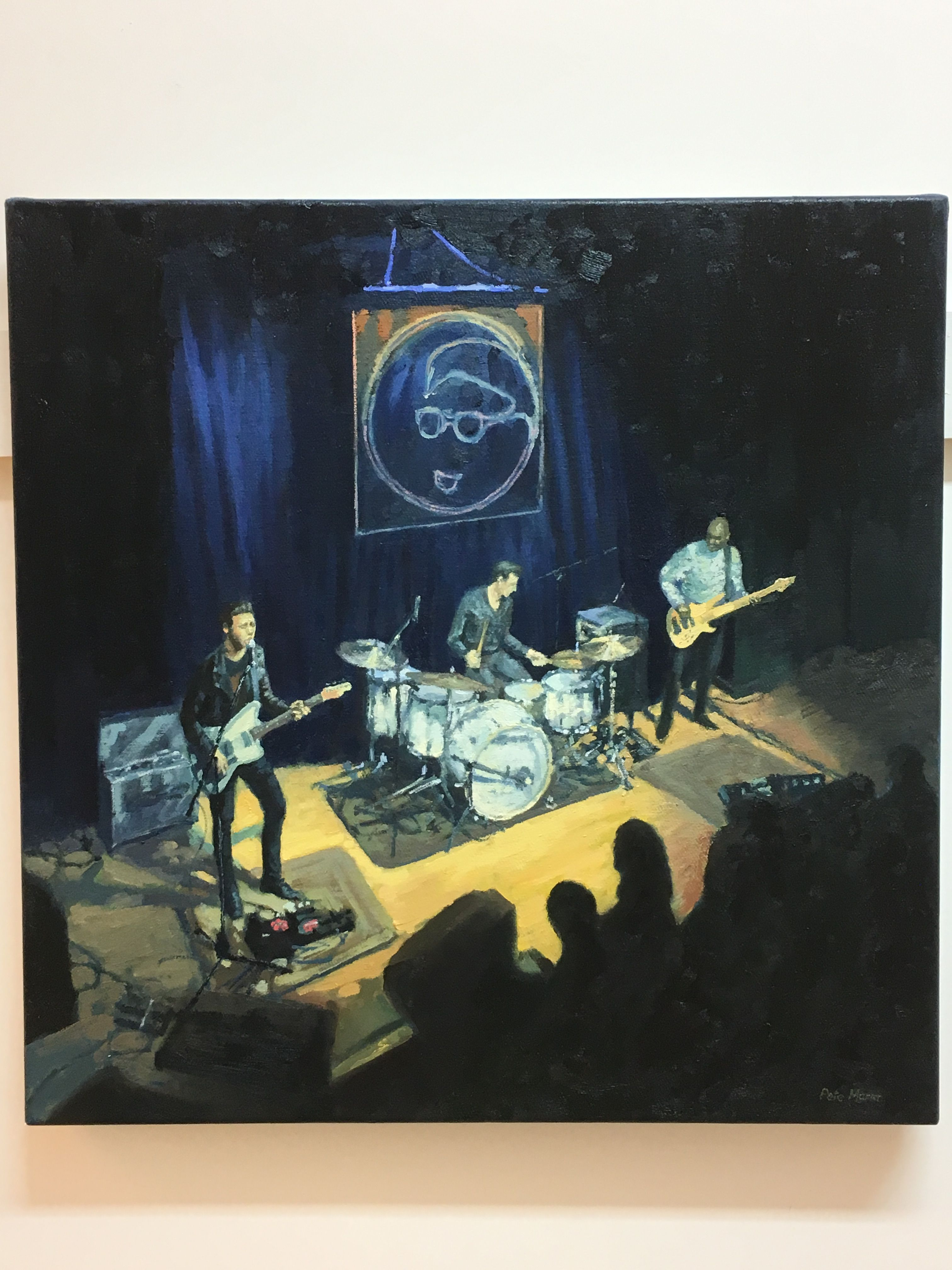 Laurence Jones at Band on the Wall, oil on canvas
