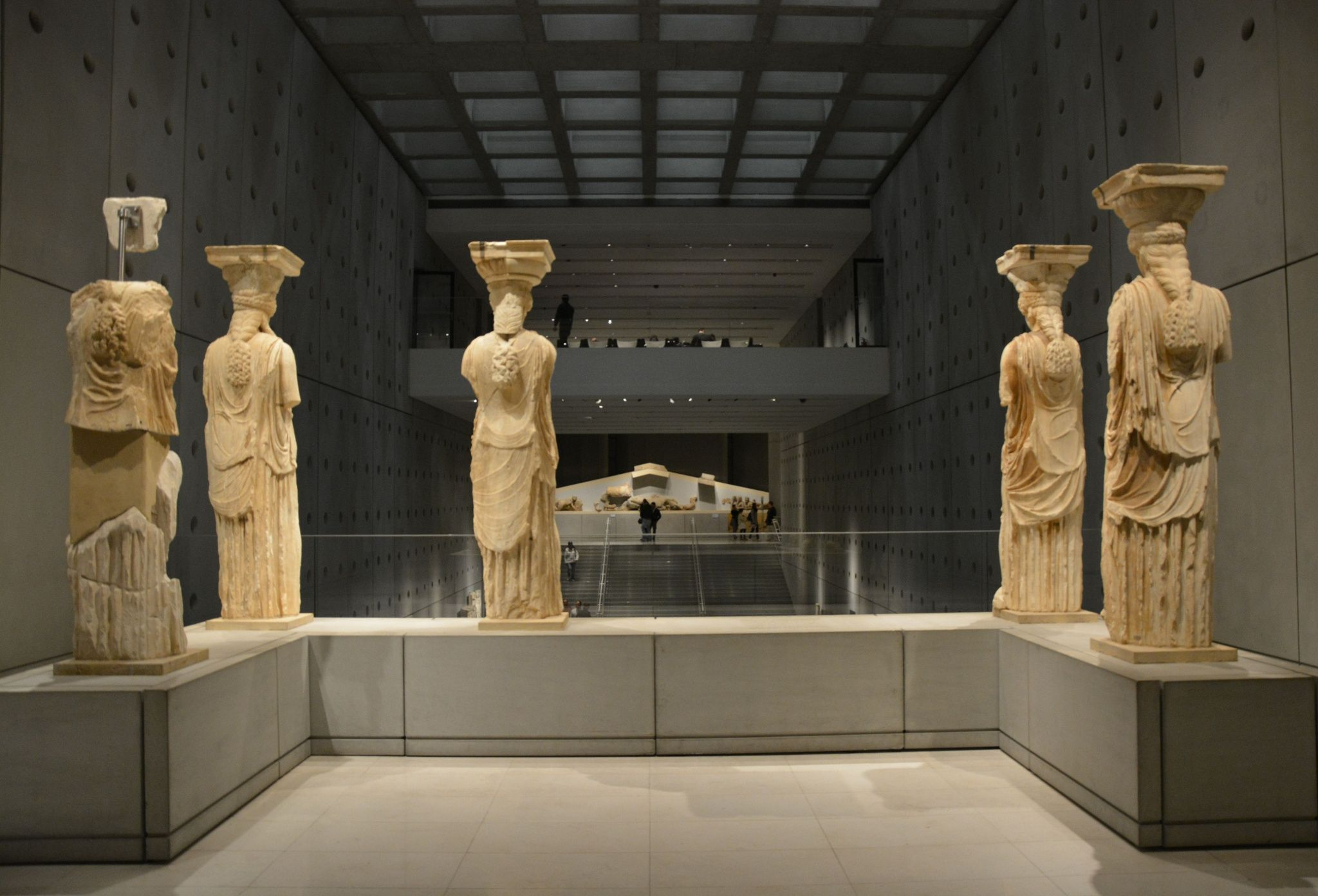 Korai Pathenon Decoration Archaic Kore Of Acropolis Museum Reproduction