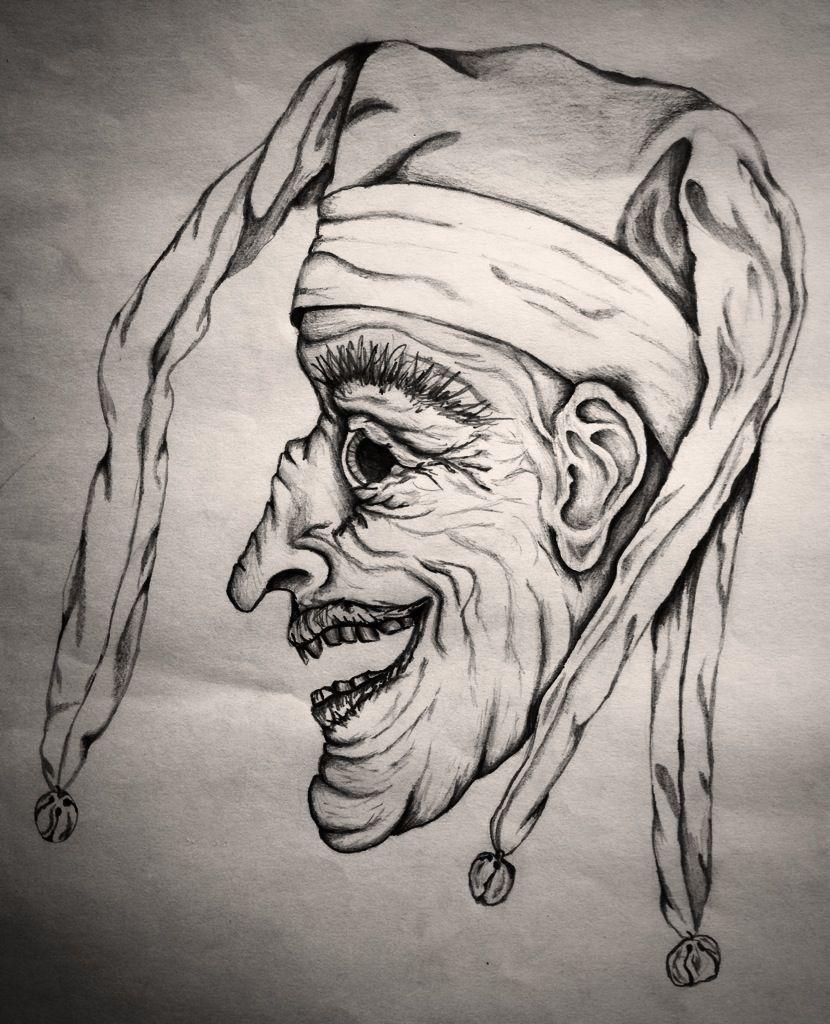 Tattoo Ideas Jester: Creepy Jester #Tattoo Design