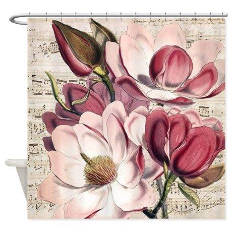 romantic magnolia shower curtain | romantic, showers and curtains