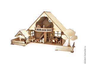 КД-0000015 Кукольный домик с мебелью, беседкой и ...