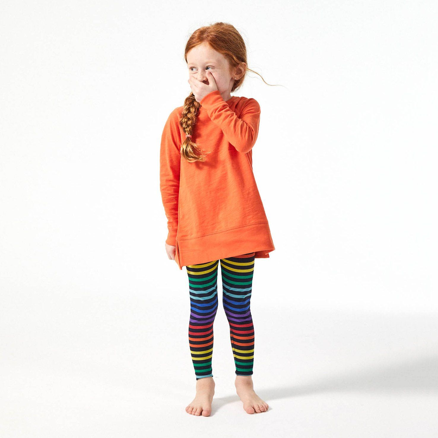the rainbow stripe legging #stripedleggings