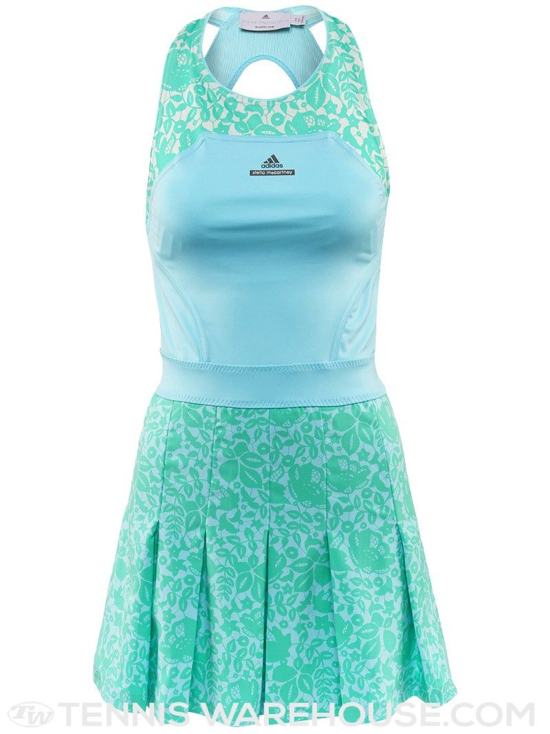 Adidas Spring Stella Mccartney Barricade Tennis Dress Blue Mint