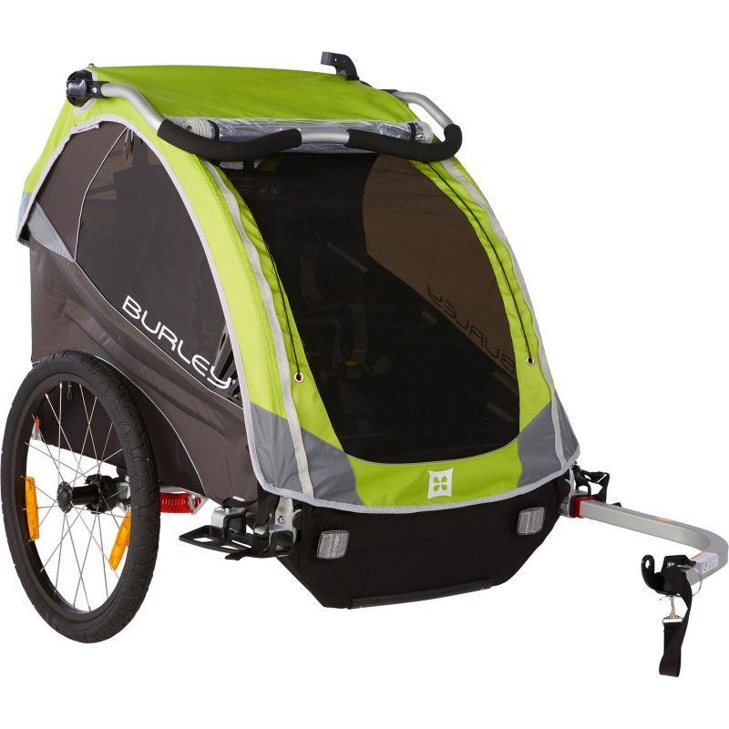 Burley D'Lite Bike Trailer, Green Bike trailer, Kids bike