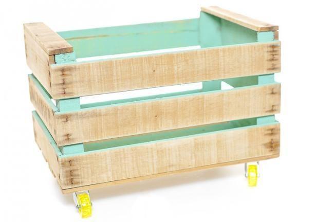 Cajas de madera recicladas decorar tu casa es facilisimo - Cajones de madera para frutas ...