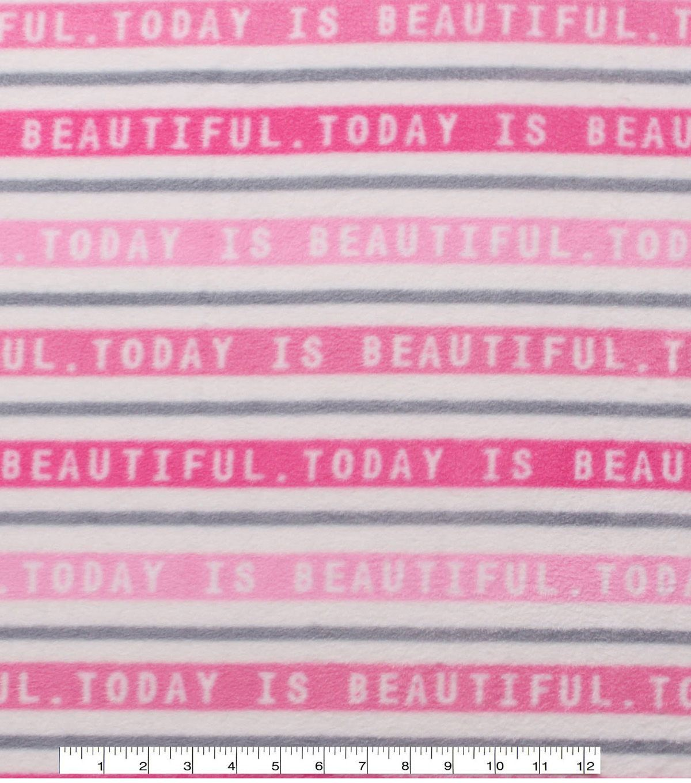 "Anti - Pill Fleece Fabric 59"" - Today Is Beautiful"