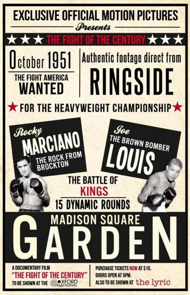 Joe Louis Rocky Marciano Heavyweight Champions Posters
