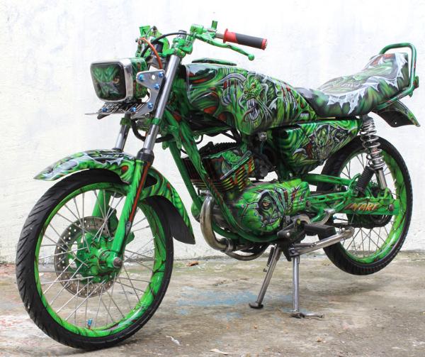 Modifikasi Yamaha Rx King Cobra Airbrush Full Desain