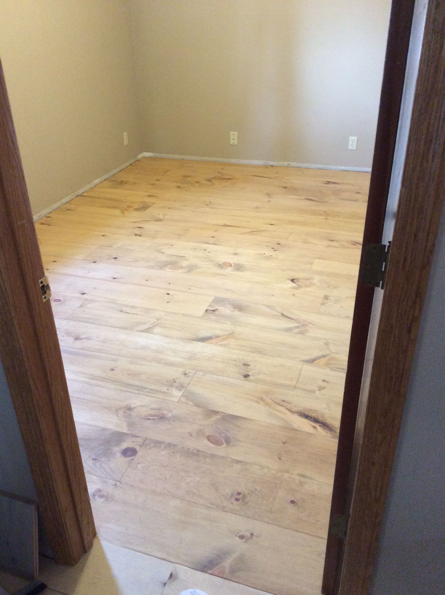 Minwax Fruitwood On Pine Stain Applied Sealer And Clear