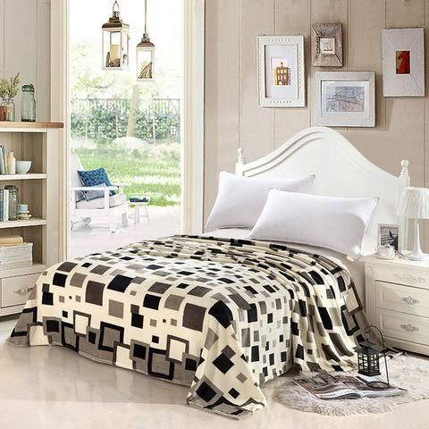 Home Textile Super Soft Plaid Blankets England Style Microplush ...