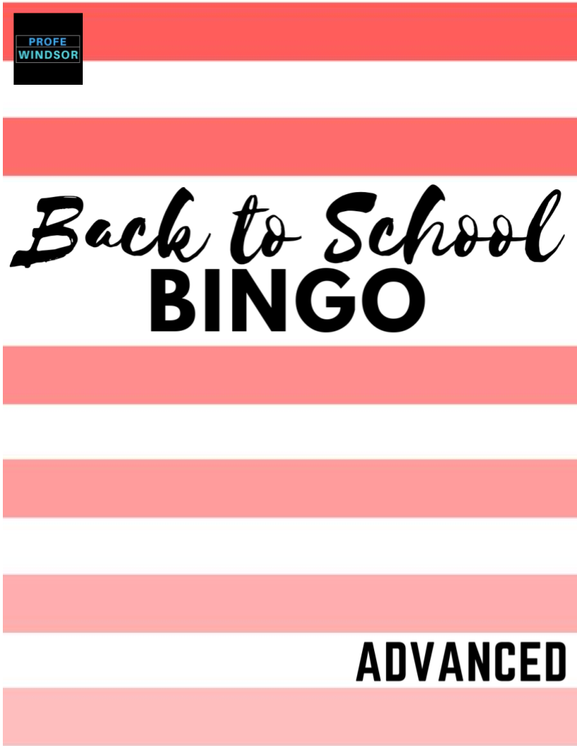 Back to School BINGO – an engaging, guided speaking activity (Advanced)