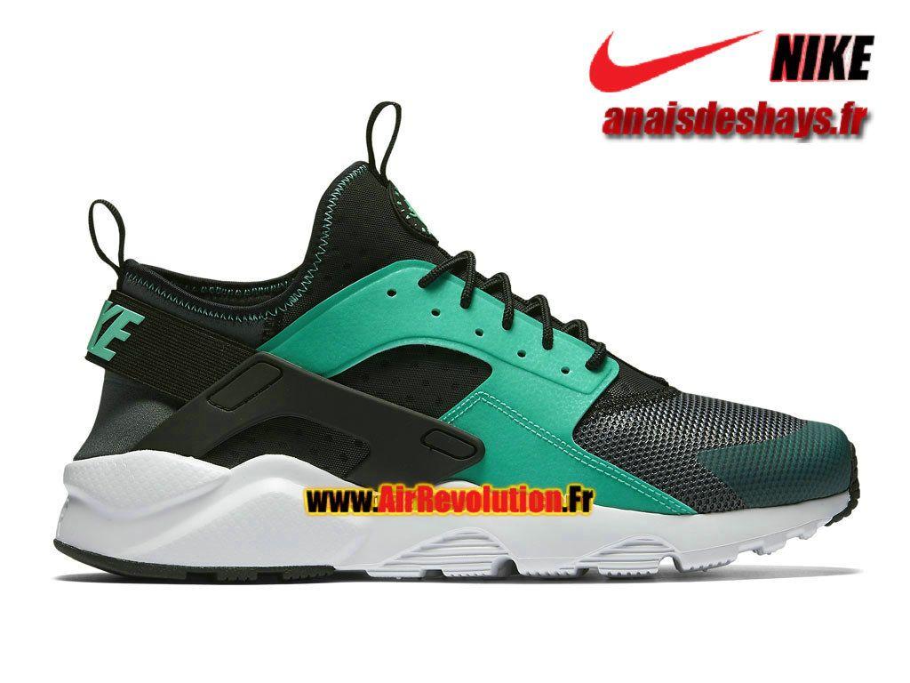 huge selection of 495b2 309e6 Boutique Officiel Nike Air Huarache Ultra Homme Gris  foncé Noir Blanc Menthe 819685-003