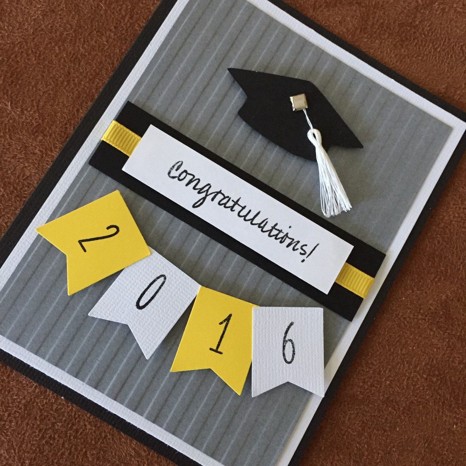 Homemade graduation card unique 2016 graduation card congrats grad high school college and for Graduation announcements pinterest