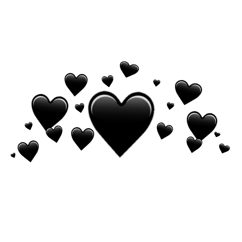 Imagen Relacionada Crown Png Black Heart Emoji Black Heart