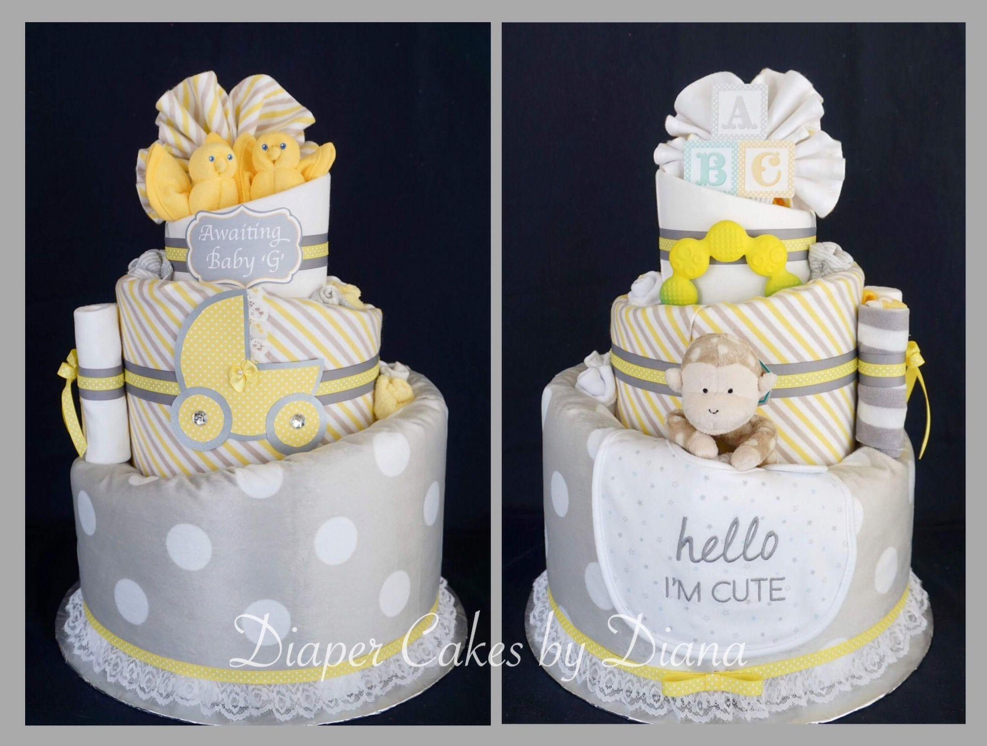 Gender Neutral Diaper Cake Www Facebook Com Diapercakesbydiana
