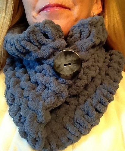 loom knitting scarves with buttons   Loom Knit Button Cowl pattern ...