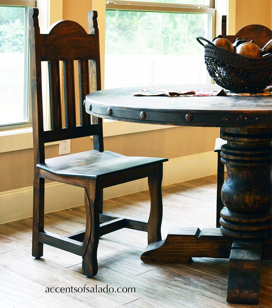 Rustic Wood Dining Chair at Accents of Salado | Hacienda Furniture ...