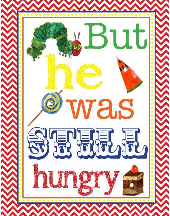 Very Hungry Caterpillar Nursery Wall Art By Rawkonversations