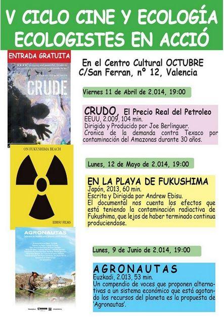Valencia V Ciclo De Cine Y Ecologia Ecoagricultor Com Con Imagenes Cine Ecologia Eventos