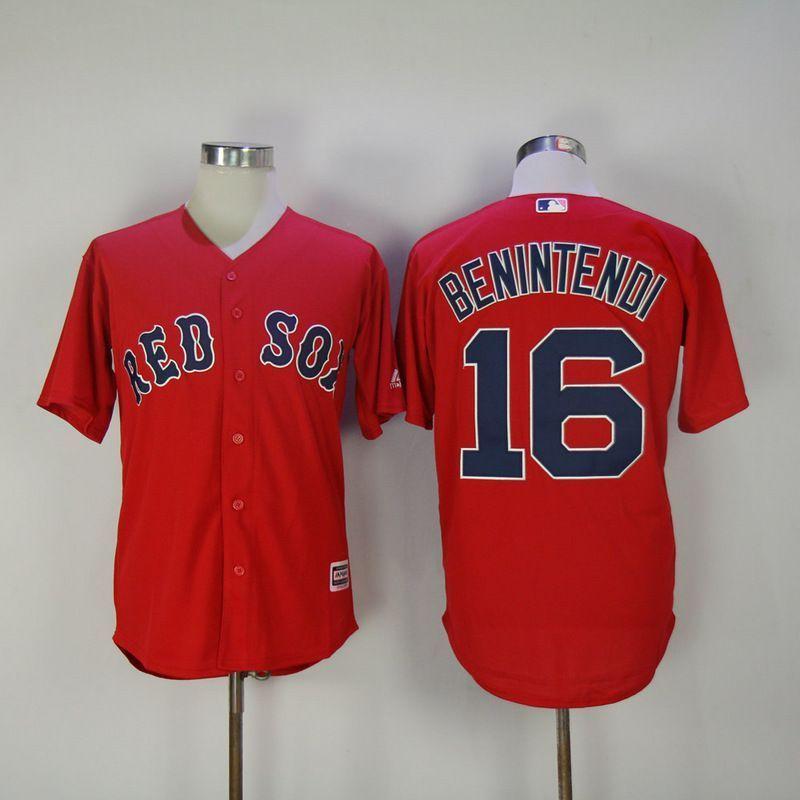 new style 249de dc96f 2017 Men MLB Boston Red Sox 16 Benintendi Red Game Jerseys ...