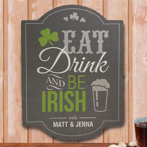 Personalized Irish Welcome Wall Sign Pub Signs Wall Signs Signs Pub
