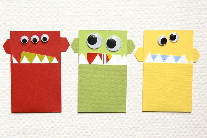 Monster Gift Card Holder Tutorial U0026 Ideas On Polka Dot Chair