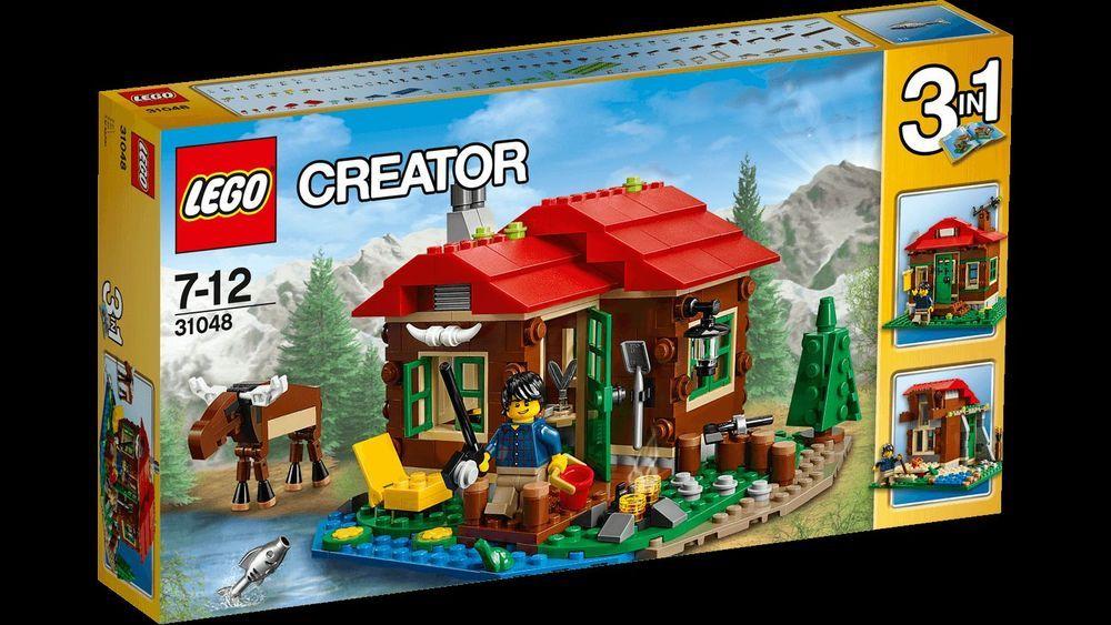 Lego Creator Lakeside Lodge 3 In 1 Log Cabin Mountain Authentic Usa New Sealed Lego Lakeside Lodge Lego Creator Sets Lego Creator