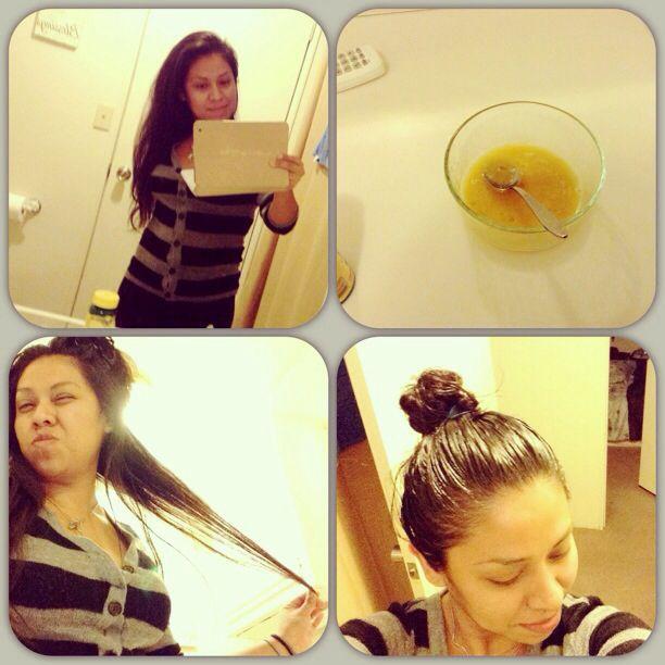 Diy Hair Mask Raw Honey Olive Oil 1 Egg Egg Yolk For Dry Hair Egg