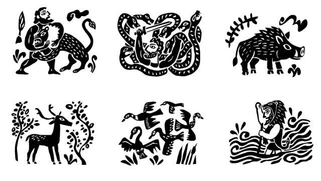 Les 12 travaux d 39 hercule mythologie pinterest - Les pommes d or du jardin des hesperides ...