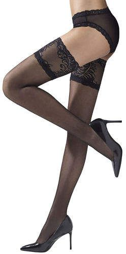 65f005aba Natori Silky Sheer Lace Top Thigh Highs