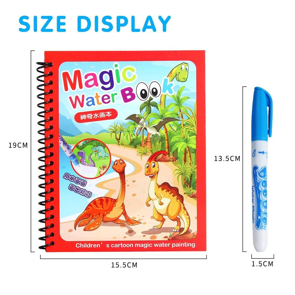 Magic Water Drawing Colouring Book Fabvil In 2020 Coloring Books Water Drawing Painted Books