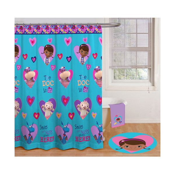 Walmart Doc McStuffins Shower Curtain 15 Liked On Polyvore Featuring Home Bed Bath And Curtains